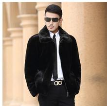 Casaca Hombre Men Mink Fur Coat Black Imitation Fur Coats Plus Size Winter Autumn Casual Outwears Male Man-Made Fur Clothes Cj69