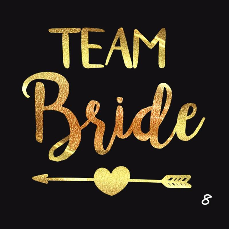 5Pcs/lot Flash Bride Tribe Temporary Tattoo Sticker Bachelor Party Bridesmaid Wedding Party Body Art Glitter Tattoo Decals Y2 10
