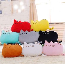 25cm 8style Colors You Can Choose Cute Cat Plush Toy Stuffed Animals Talking Toys Pusheen Cat Plush Pillow Cushion great Gift(China)