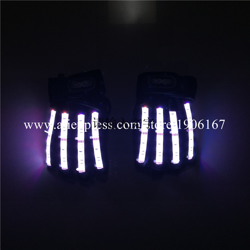 Led Gloves Stage Show Props LED Light up Gloves Glow Party Supplies10