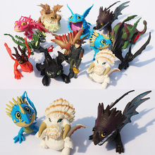13pcs/lot How To Train Your Dragon 2 PVC Figure Toys Hiccup Toothless Skull Gronckle Deadly Nadder Night Fury Dragon Figures(China)