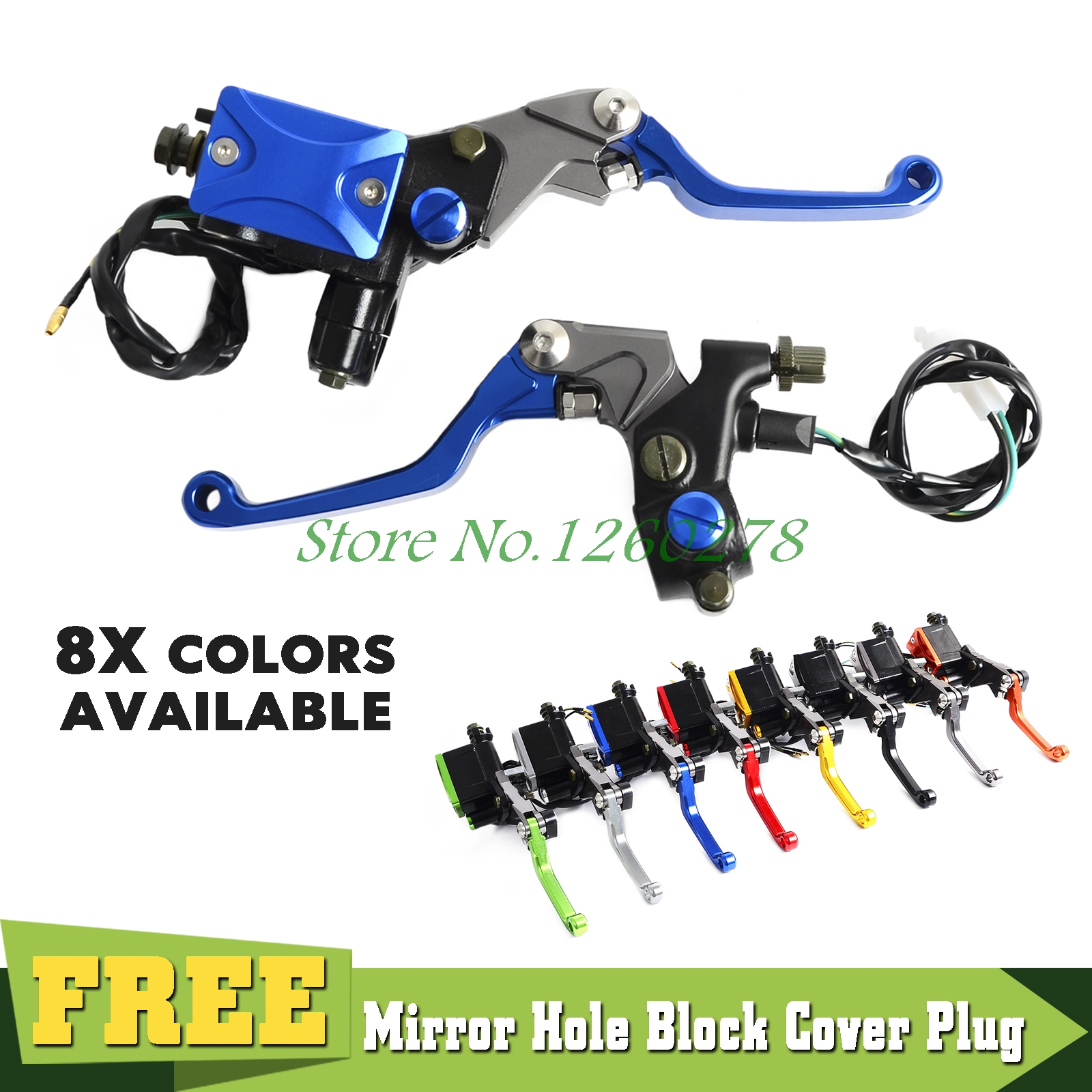 Universal 7/8 Brake Master Cylinder Reservoir Lever For Yamaha YZ80 85 YZ125 YZ250 YZ250F YZ450F WR250F 450F TTR250 600<br>