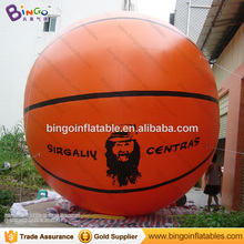 Large 16ft inflatable basketball model basketball balloon for sport game decoration speed promotion inflatable toy(China)