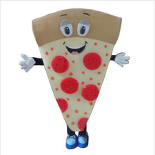 New arrival 2017 Cute Pizza Cartoon Character Mascot Costume    Fancy costume for Halloween party   Adult size