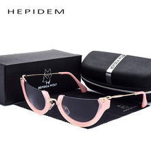 Women's Ms Hippie Cat Eye Sun Glasses 2017 Women Brand Designer logo Female Half Clear Pink Frame CatEye Sunglasses with box m