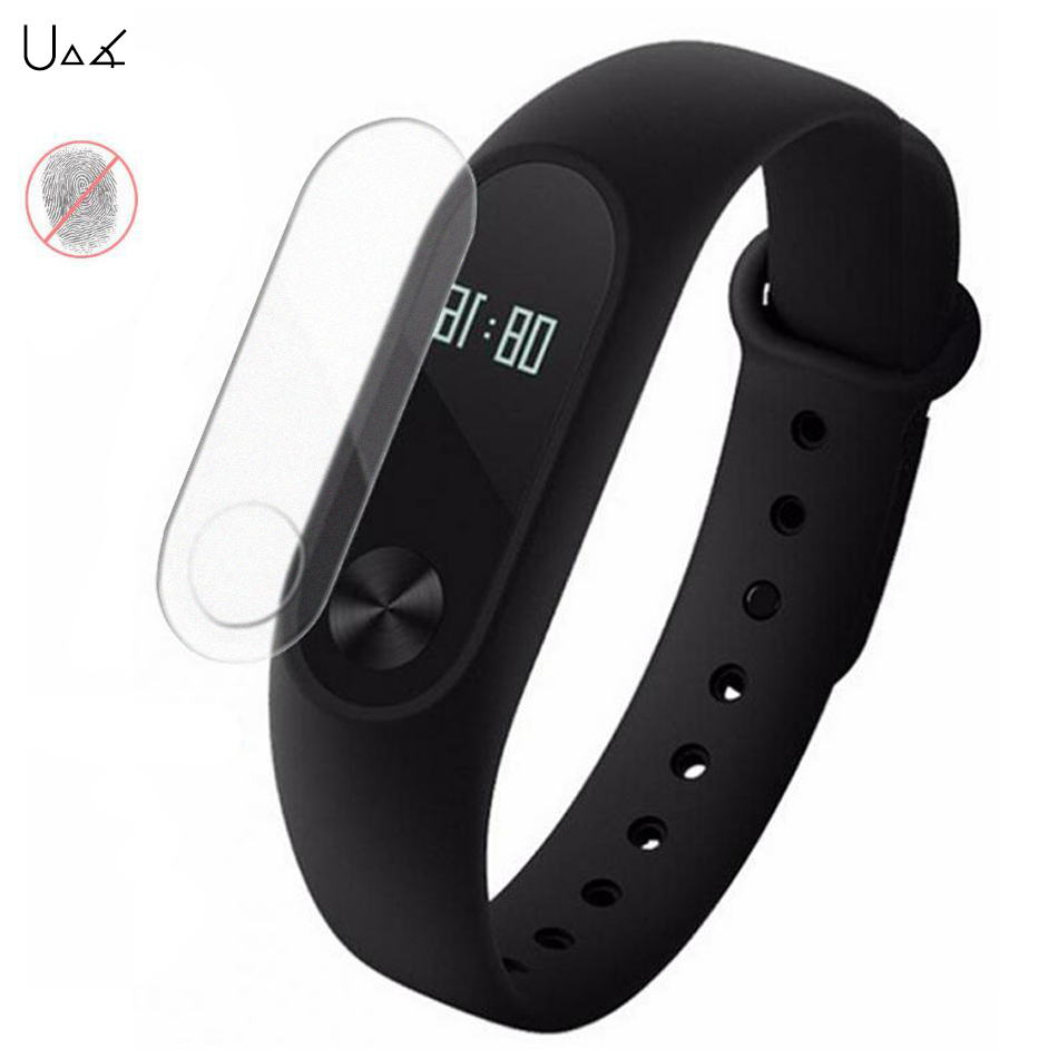 UVR 2Pcs/Lot Anti-Glare Matte Screen Protector Xiaomi Mi Band 2 Smart Wristband Bracelet Frosted Film Guard