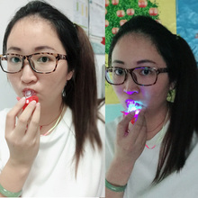 2018 Led Wedding Dress Baby Party Supplies Funny Toy Pacifier Whistle Survival Tool Flash Glow Sticks Bar Event Free Shipping(China)