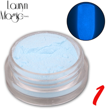 12 Colors Fashion Super Bright Glow in the Dark Powder Glow Luminous Pigment Fluorescent Powder Brightly Colored Powder