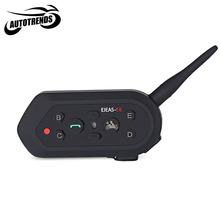 EJEAS - E6 Motorcycle Bluetooth Intercom Motorbike Interphone Headset Two People Full Duplex Talking 1300M Effective Range