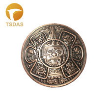 Free Shipping 1pc Bronze Coin, 40mm Ancient Style Maya Metal Coin Collectible Coins Birthday Gifts(China)