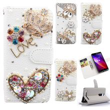 Luxury PU leather Flip Cover For One Plus 3 T OnePlus 3t OnePlus3 A3000 Mobile Phone Wallet Case Cover With LOVE & Rose Diamond(China)