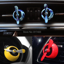 10pcs Air force 2 car air outlet vent clip freshener airfreshener Aromatic Perfume Fragrance conditioner(China)