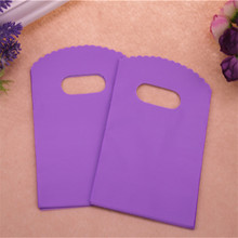 2016 New Design Wholesale 100pcs/lot 9*15cm Luxury Simple Gift Packaging Pouches Purple Small Present Gift Bags