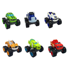 6pcs/lot Big Transformation Blaze Toys Sliding Vehicle Cars Machines Kids Toys for Children Boys Fun Games Christmas Party Gifts