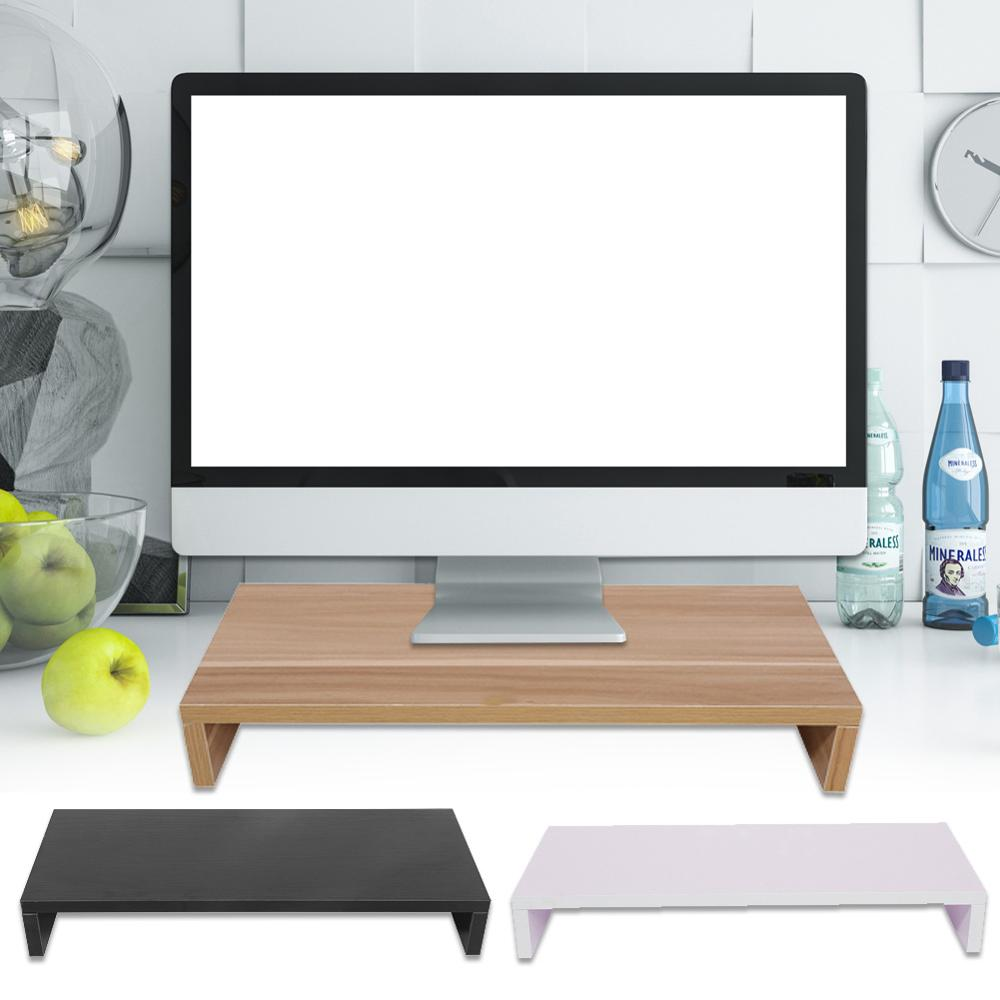 Stand Shelf Riser Desk Pc Computer-Monitor Wooden TV Plinth title=