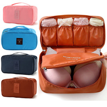 6 Colors Travel Organizer for Bra Underwear Wash Pouch Women's Makeup Cosmetic Organizer Storage Bag Portable Luggage Case