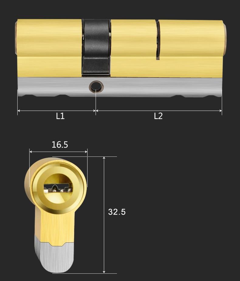 Anti Pry Stainless Steel Brass Door Lock Double Cylinder