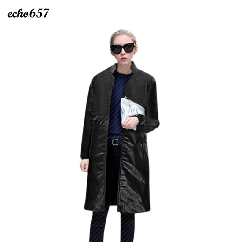 New Stely Women Coat Echo657 Hot Sale Fashion Women Warm Nylon and PU Stand Up Collar Real Coat Parka Nov 30Одежда и ак�е��уары<br><br><br>Aliexpress