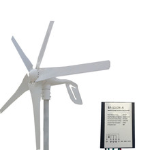 400W Wind Generator 12V 24V 5 Blades Small Wind Turbine Generator With Waterproof Charge Controller Max Power 600W Free Shipping