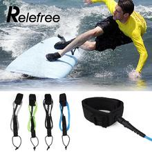 Relefree Water Sports Surfboard Leash TPU Foot Rope 6ft 5.5mm Double Straight Leash With Polyurethane Nylon Stainless Steel(China)