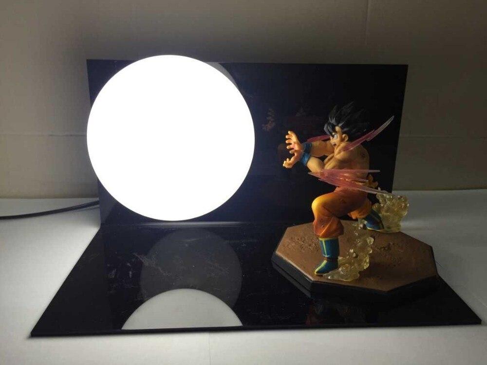 Dragon Ball Z Action Figures Toys Goku Kaiouken DIY Dragonball Z Figures Kamehameha Esferas Del Dragon+Bulb+Base<br>