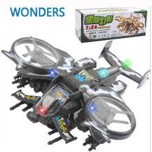 Scorpion helicopter model collection model plastic  model Toy Vehicles Diecasts Airplanes toys Omni-directional wheel