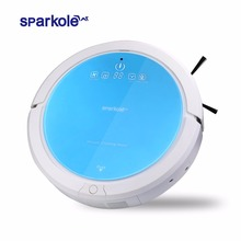 Sparkole Robotic Vacuum Cleaner Self-Charging and Side Brush with Remote Control and Advanced Edge-detection & HEPA filter(China)