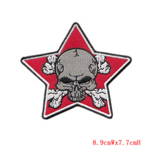 Customized Embroidery Star Skull Patch Irons are hot-on-use in Hat or Embroidered Bag Factory welcome customization in China