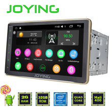Joying Latest 2GB RAM double 2 din Android 6.0 Car Radio Audio stereo HU BT Gold kit steering-wheel GPS Navi full touch screen