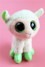 Green Big Eyes Sheep Ty Stuff Animal Mini Plush Toy Doll Pendant Kids Birthday Gift 8cm