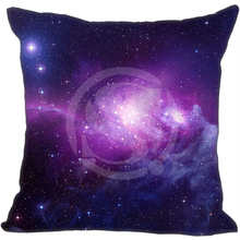 New Arrival Custom Pillow Case Funny Nebula Galaxy Universe Space  Pillowcase zipper 35x35 cm (One side)  F922