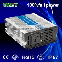Solar 1000w 24v 110v 220v DC AC Pure sine wave single output lcd off grid power inverter for air condition