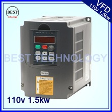 110V 1.5kw VFD Variable Frequency Drive Inverter / VFD Input 1or3HP 110V Output 3HP 110V frequency inverter(China)