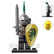 Single Sale Series Heavy Dragon Knight Medieval Rome Knight minifig super heroes star wars Building DIY Blocks Kids Toys Gifts(China)
