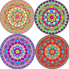 WXY 150*150cm Beach Towel Polyester Creative Printing Tassel Air Conditioning Sunscreen Multifunctional Round Beach Towels