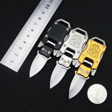 NY Transformers Mini Pocket Knife Multifunction Paratroopers Pope Camping Survival Folding Knives Portable EDC Keychain Tools(China)
