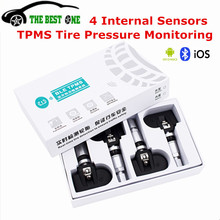 2017 Car TPMS Systems Tyre Pressure Monitoring System Alarm With 4 Internal Sensor OBD Interface Tire Pressure Warning Free Ship(China)