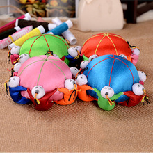 wholesale 10PCS Chinese HANDMADE Silk Sewing Tool vintage pin Cushion with 6 cute kids