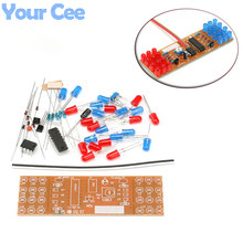 1 pc Red Blue Double Color Flashing Lights Kit Strobe NE555 + CD4017 Practice Learning DIY Kits Electronic Suite Design(China)