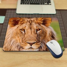 African Lion Living In Slovakia Funny Custom Mouse Pad for Size 18*22cm and 25*29cm