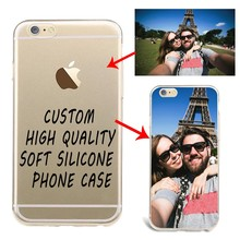 Custom Design DIY Transparente Silicone Case Cover For iPhone 7s 7plusu 6 6splus 5Se i6 5c4s Customized Printing Cell Phone Case(China)