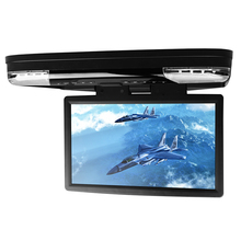 "15.6"" Car Roof Mounted DVD Player With 32 Bits Game Flip Down Monitor Ultra-thin Overhead Wide Screen HDMI Port Ceiling HD Video"