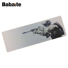Babaite 90*40cm Large Mouse pad Lock Edge Soldiers Assault rifle CSGO pad keyboard mouse Anti-slip Natural Rubber(China)