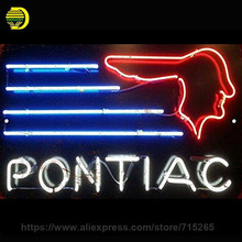 Neon Sign Real Glass Tube Pontiac Neon Light Bulbs Restaurant Sports Display Arcade Beer signs handcraft Signs Advertise 17X14(China)