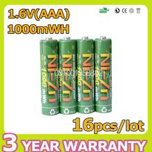 16pcs BPI AAA 1000mwh 1.6V 1.5V NI-Zn Battery Low Self-discharge batteries High Persistence Rechargeable bateria Full Capacity