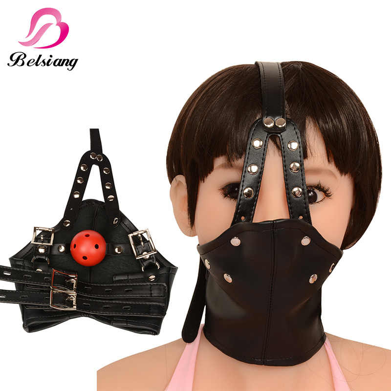 Detail Feedback Questions about Bdsm Mask Leather Bondage Restraints Body  Hood Harness Mouth Gag Sexy Bondage Gear Slave Fetish Erotic Toys Sex Toys  For ...