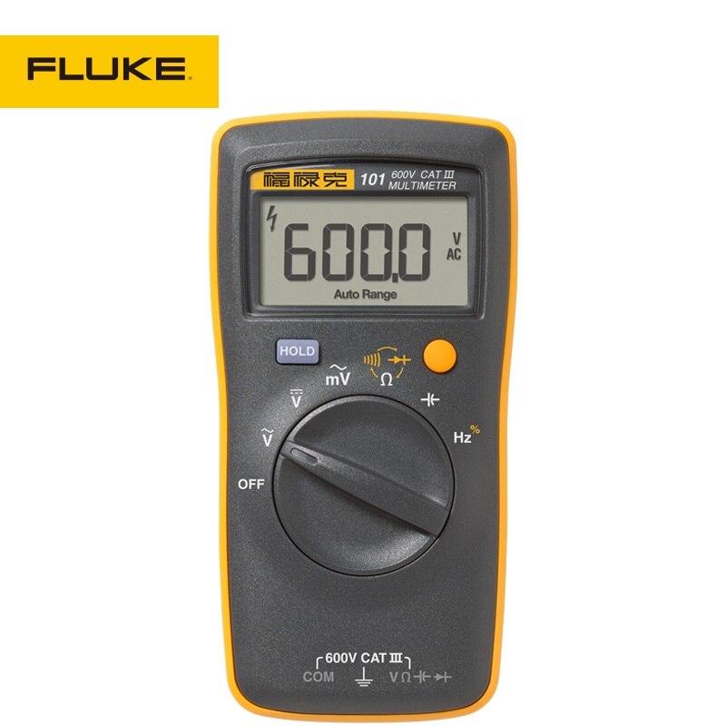 New FLUKE 101 portable/handheld digital multimeter for AC/DC Voltage,Resistance,Capacitance and Frequency Measurement<br><br>Aliexpress