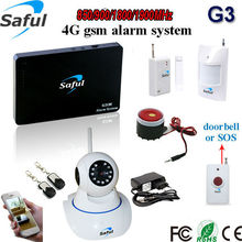 GSM alarm system Hot long distance transmission android & IOS APP control wireless security home kit 98 zones with ip camera(China)