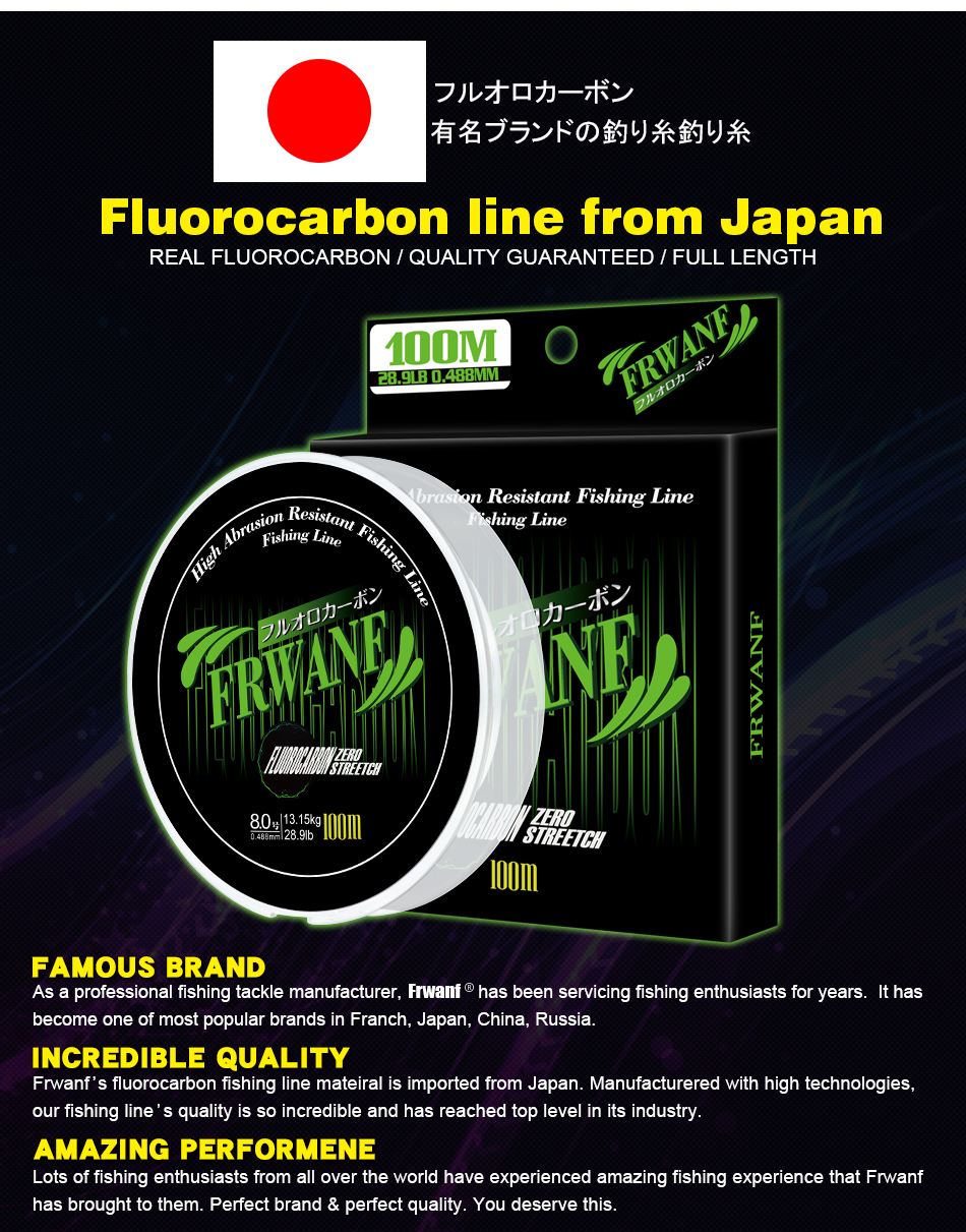 Monofilament Fishing Line Fluorocarbon (3)
