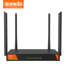Tenda W15E 1200Mbps Smart Gigabit Wireless WiFi Router 11ac 2.4G/5GHz Wi-Fi Repeater for Office / Internet cafe / Large House(China)